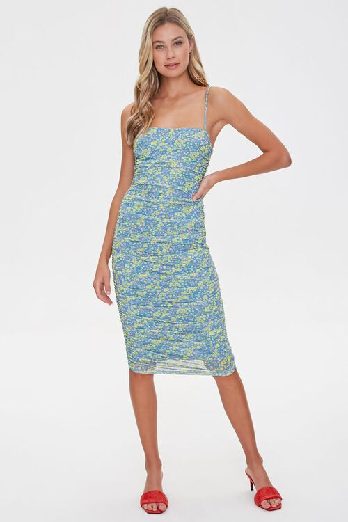 Ruched Floral Bodycon Dress, image 4