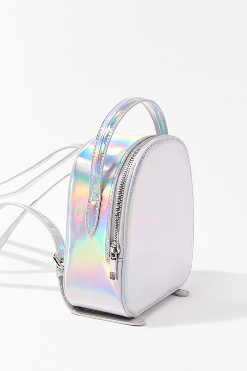 HOLOGRAPHIC Iridescent Mini Backpack, image 4