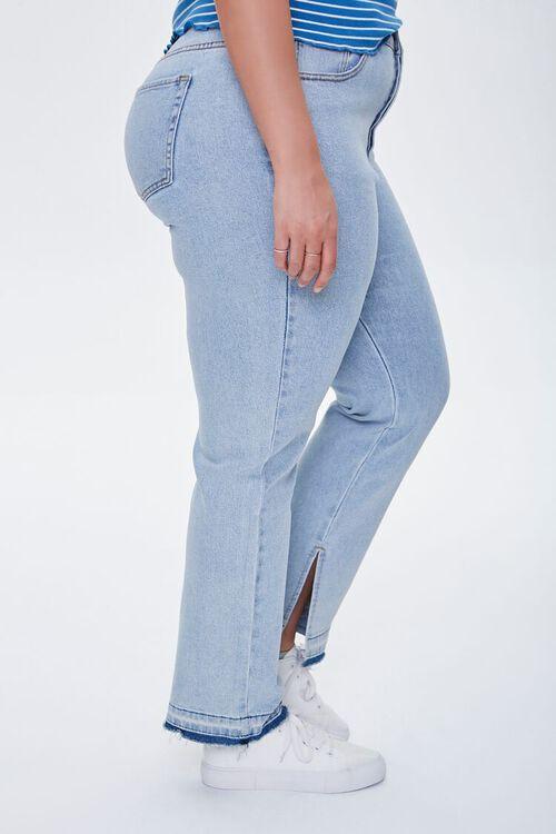 LIGHT DENIM Plus Size Release-Hem Jeans, image 3