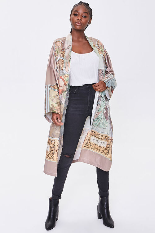 Alphonse Mucha Print Kimono, image 4