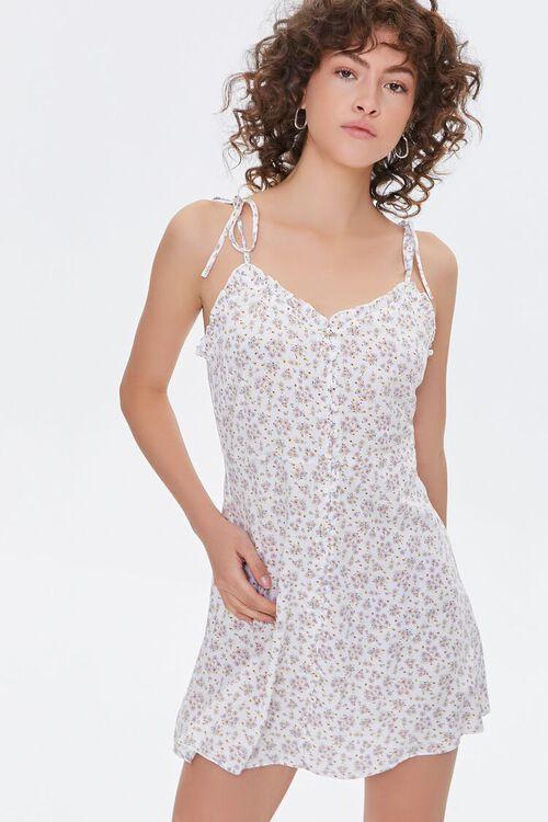 Floral Self-Tie Cami Dress, image 1