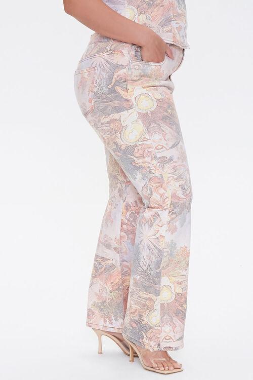 Plus Size Renaissance Art Print Ankle Jeans, image 3