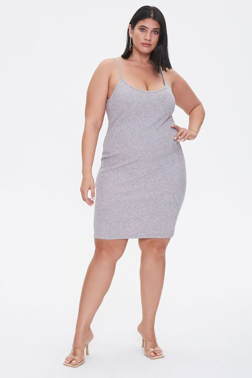 Plus Size Ribbed Cami Dress, image 4