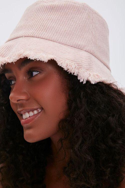 ROSE Frayed Corduroy Bucket Hat, image 2