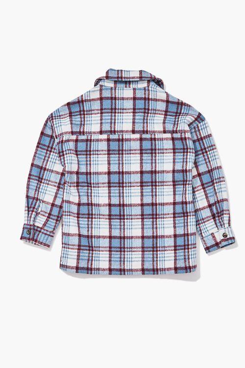 Girls Buttoned Plaid Shacket (Kids), image 2