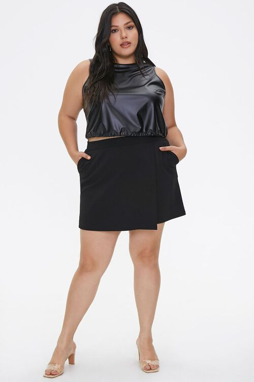 Plus Size Faux Leather Crop Top, image 4