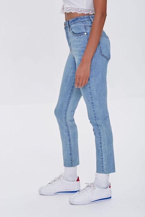 LIGHT DENIM Essential High-Rise Raw-Cut Jeans, image 3