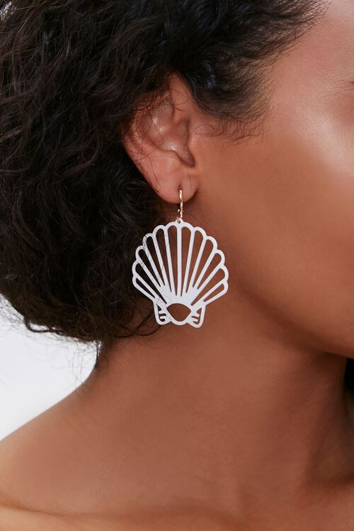 Cutout Seashell Drop Earrings, image 1
