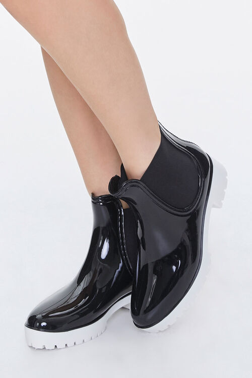 Faux Patent Leather Chelsea Boots, image 1