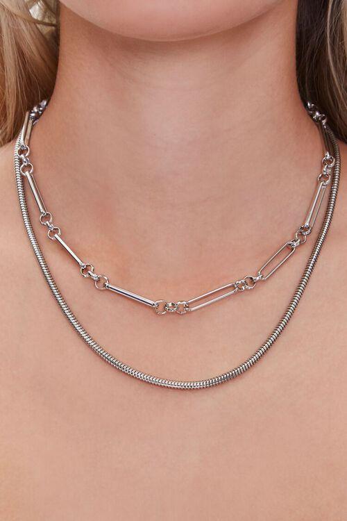 Anchor Snake Layered Necklace , image 1