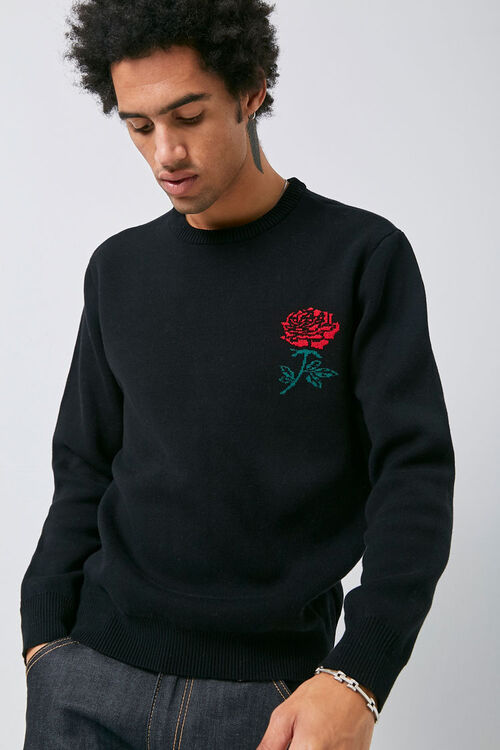 Brushed Rose Graphic Sweater, image 1