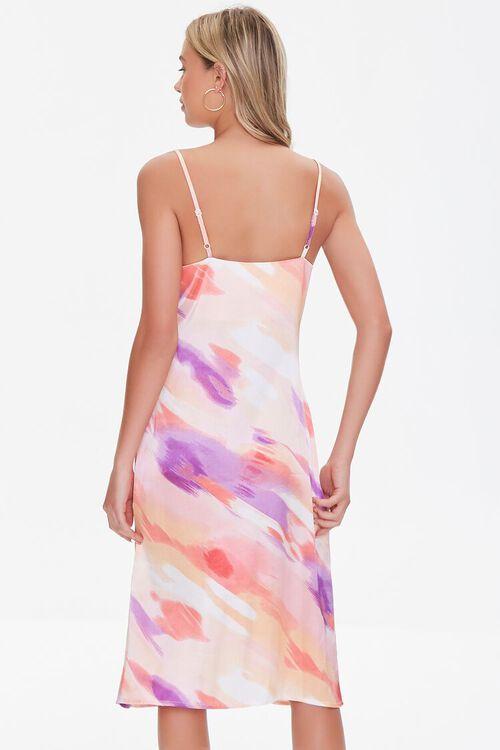 Satin Abstract Wash Slip Dress, image 3