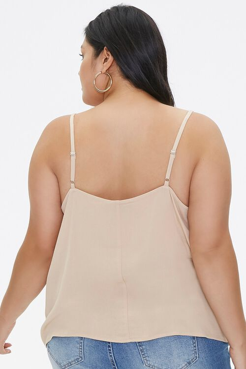 Plus Size Relaxed Lace-Trim Cami, image 3