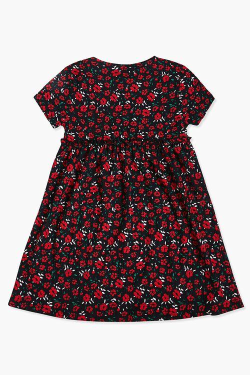 Girls Floral Ruffled Dress (Kids), image 2