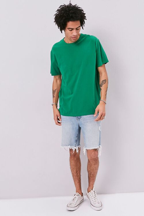 High-Low Vented Crew Neck Tee, image 4
