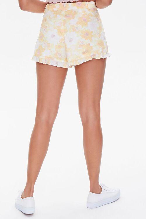 YELLOW/MULTI Floral Print Ruffle-Trim Shorts, image 4