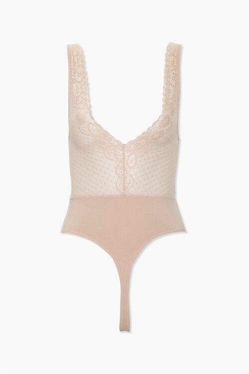 NUDE Lace-Trim Lingerie Bodysuit, image 2