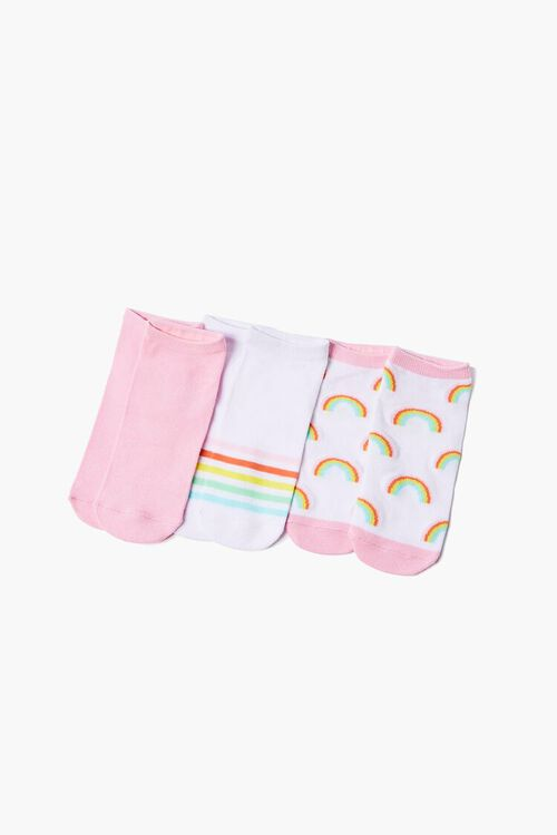 Rainbow Graphic Ankle Sock Set, image 1
