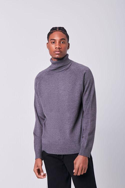 Turtleneck Raglan Sweater, image 1