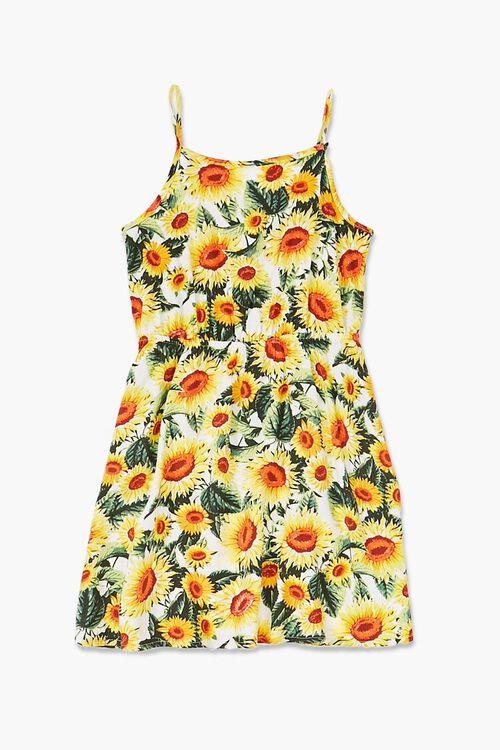 Girls Sunflower Print Dress (Kids), image 1