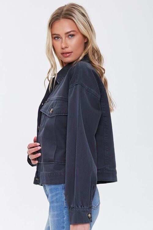 Denim Button-Front Jacket, image 2