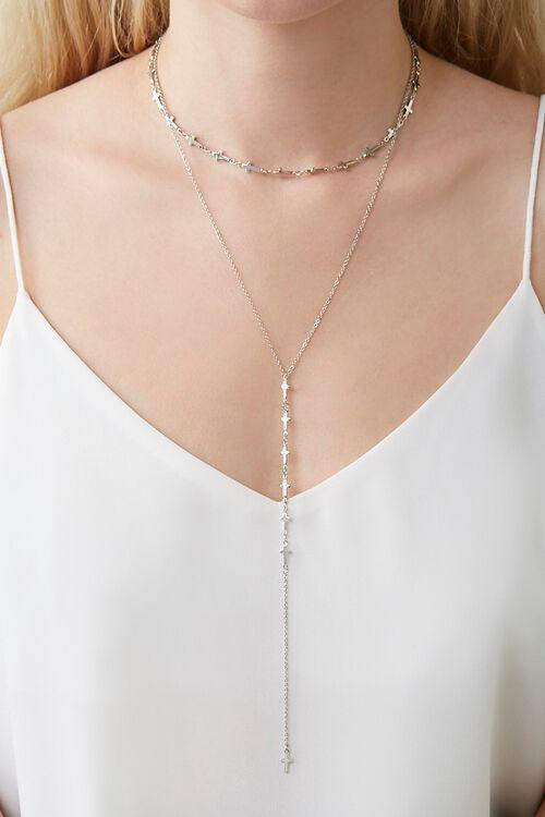 Cross Charm Necklace Set, image 2