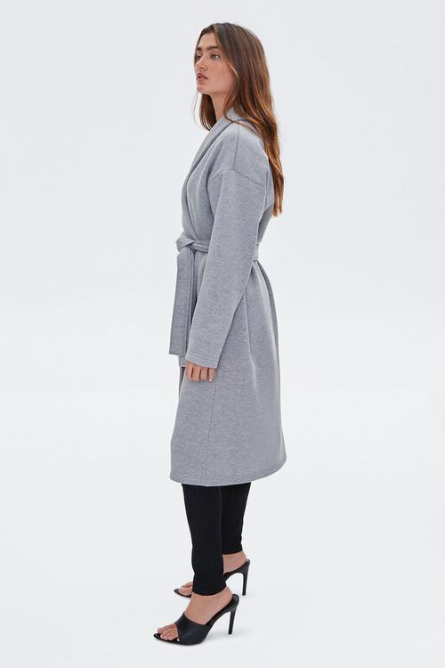 Fleece Tie-Waist Wrap Jacket, image 3
