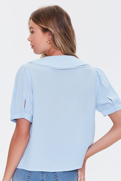 Puff-Sleeve Button-Up Shirt, image 3