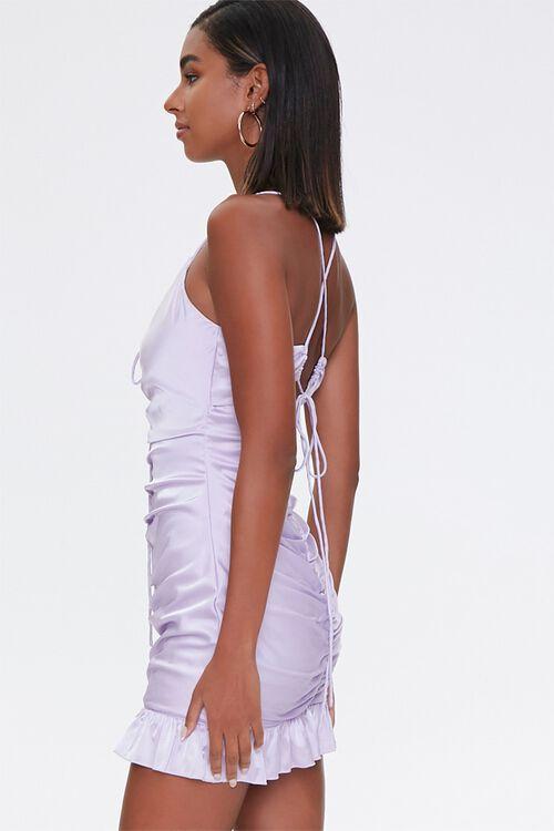 Ruched Satin Mini Dress, image 2