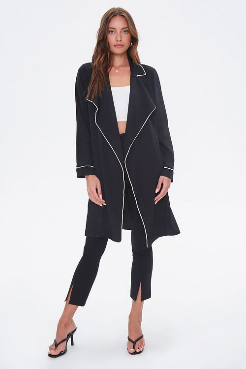Piped-Trim Duster Coat, image 4