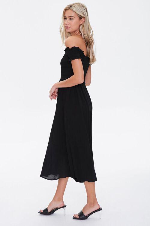Smocked Off-the-Shoulder Dress, image 2
