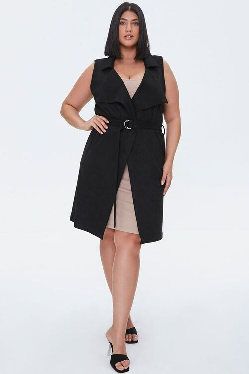 Plus Size Belted Duster Vest, image 4