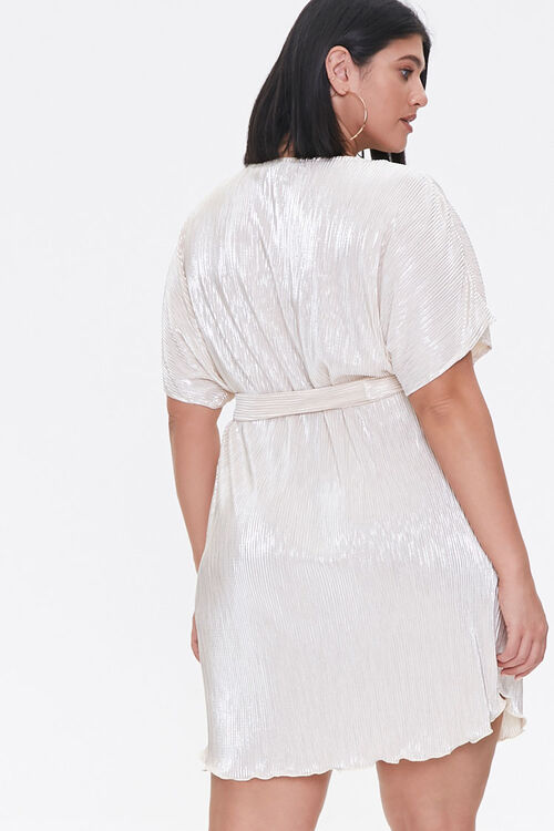 Plus Size Metallic Dolman Dress, image 3