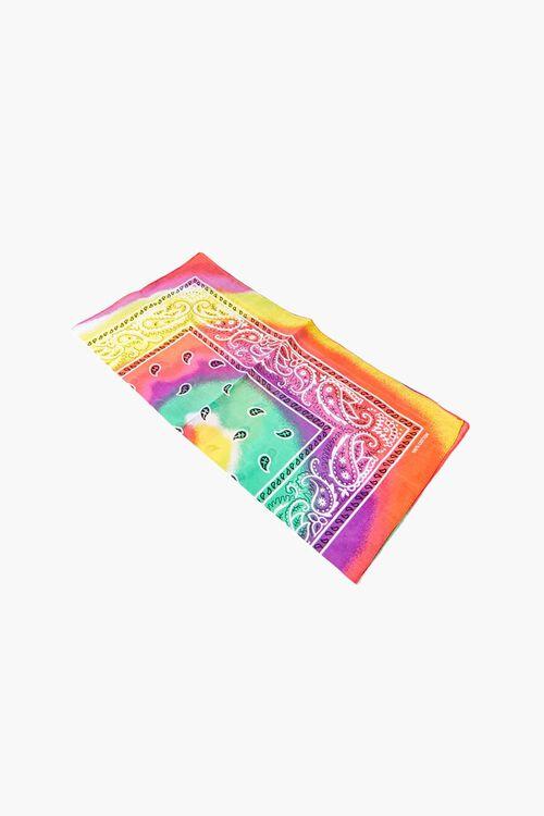 Tie-Dye Paisley Bandana, image 2