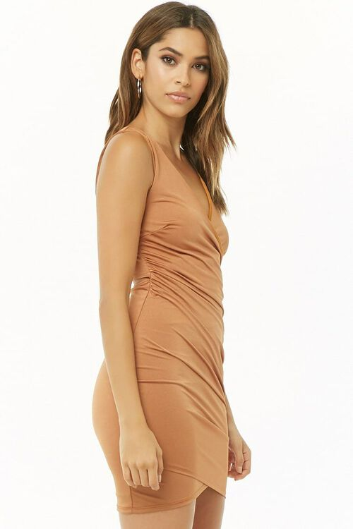 Ruched Surplice Mini Dress, image 2