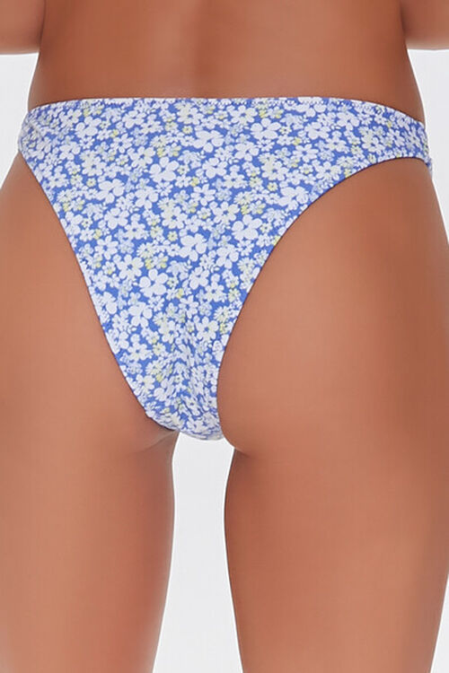 Floral Print Cheeky Bikini Bottoms, image 4