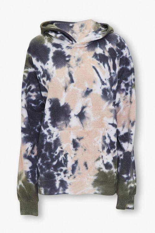 Tie-Dye Fleece Hoodie, image 1