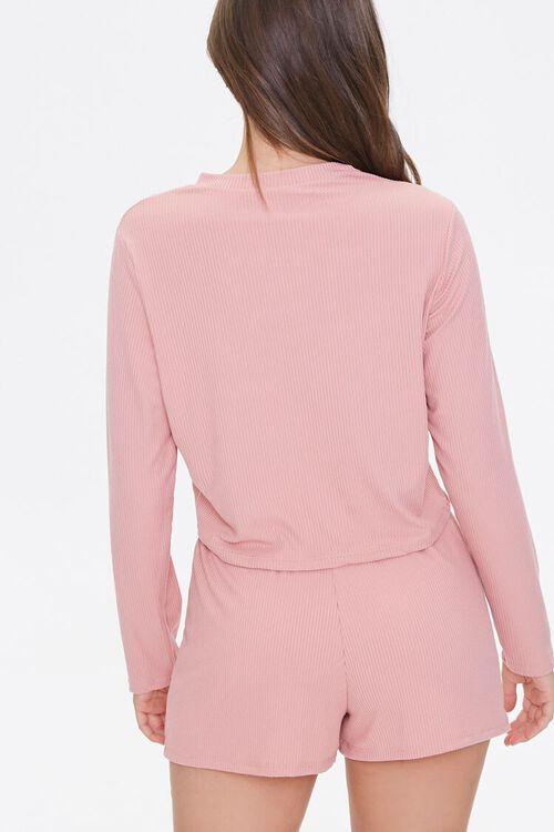 Ribbed Top & Shorts Pajama Set, image 3