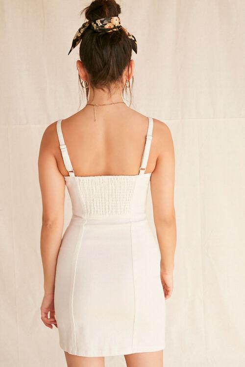Lace-Trim Buttoned Denim Dress, image 3
