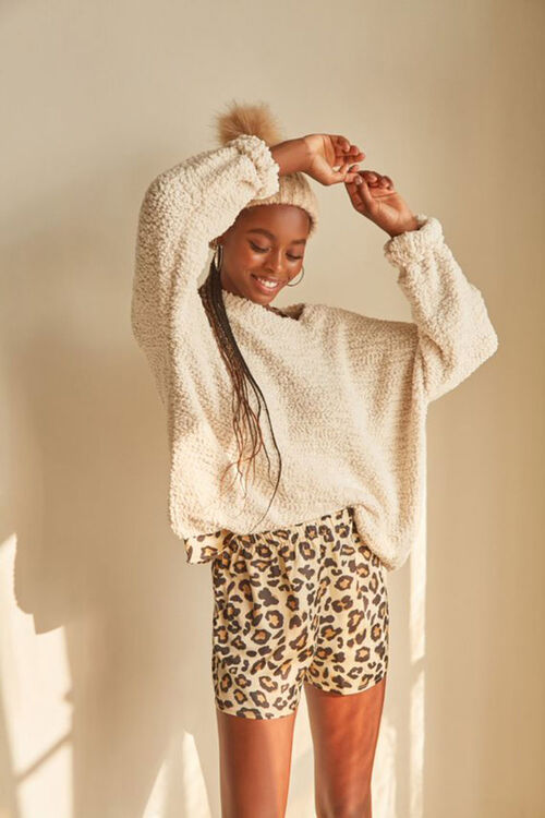 Leopard Print Cami & Shorts Set, image 1