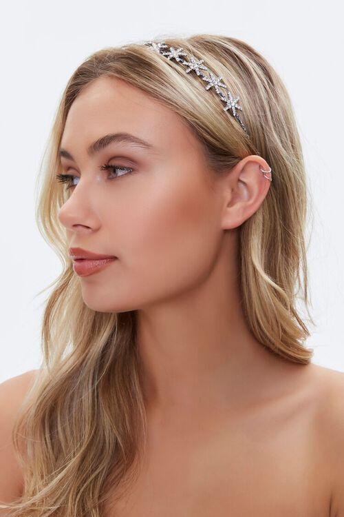 SILVER Rhinestone Star Headband, image 1