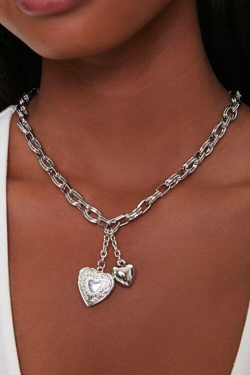 Heart Locket Pendant Necklace, image 1