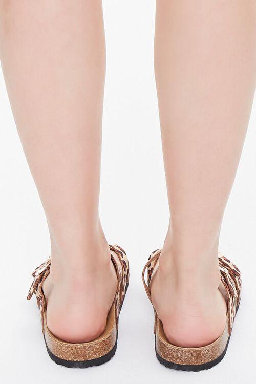 Buckled Leopard Print Flatform Sandals, image 3
