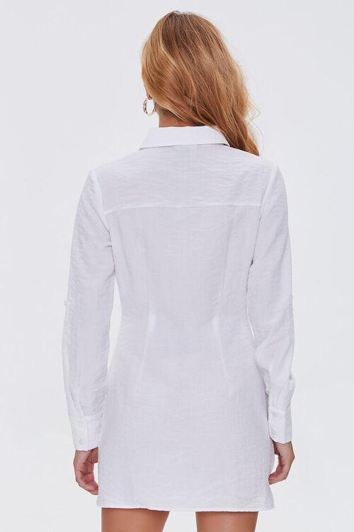 Ruched Mini Shirt Dress, image 3