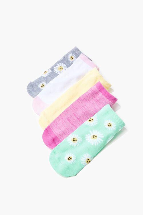 Daisy Print Ankle Socks - 5 Pack, image 2