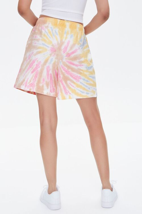 Positive Vibes Graphic Tie-Dye Shorts, image 4