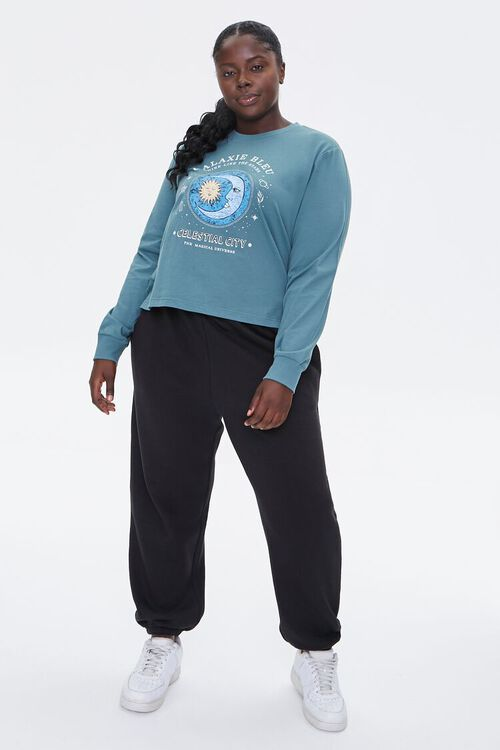 Plus Size Celestial Graphic Pullover, image 5