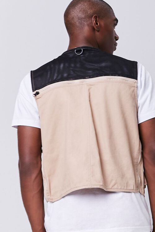 TAUPE Zip-Up Utility Vest, image 3