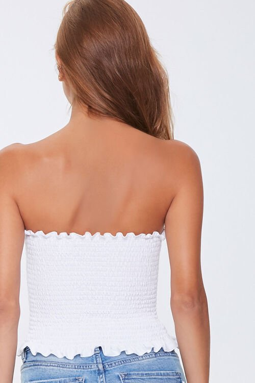 Smocked Ruffle-Trim Tube Top, image 3