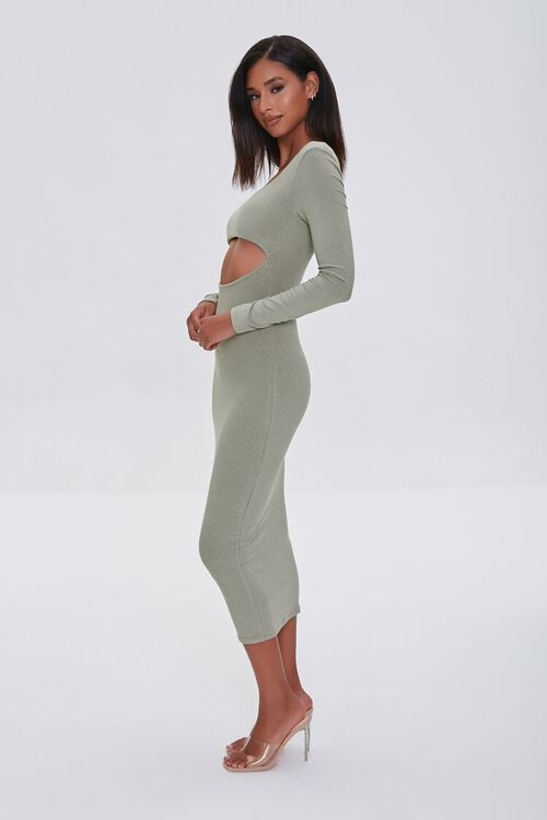 SAGE Cutout Midi Bodycon Dress, image 2